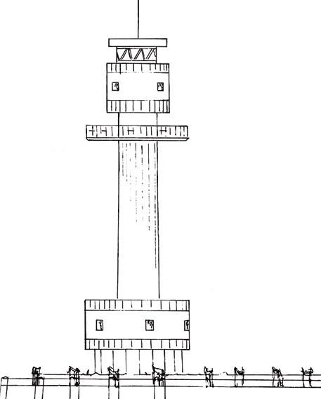 Friedrichsort - Lighthouse near Kiel (Friedrichsort)
