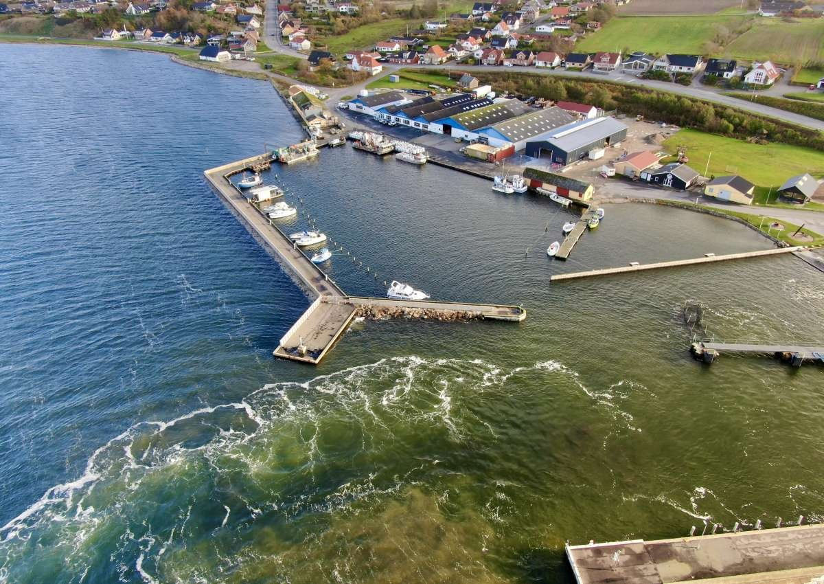 Hvalpsund Fiskerihavn - Hafen bei Hvalpsund